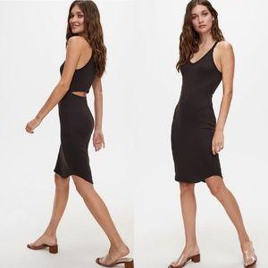 Aritzia Wilfred Free Yasmin Dress in Black